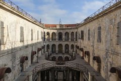 Interior of Fort Boyard in France, Charente-Maritime, France Stock Photo