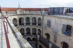 Interior of Fort Boyard in France, Charente-Maritime, France stock photos