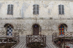 Interior of Fort Boyard in France, Charente-Maritime, France Royalty Free Stock Photography