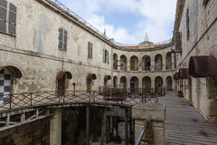 Interior of Fort Boyard in France, Charente-Maritime, France stock photography