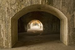 Interior of Fort Pickens Stock Photos