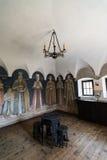 Interior fortificado de Cula, Maldaresti, Rumania Fotografía de archivo