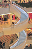 Interior of Forum shopping mall in Helsinki Stock Image