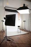 Interior fotográfico do estúdio imagens de stock royalty free