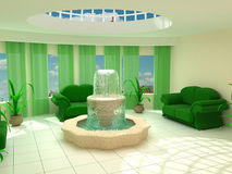Interior a fountain Royalty Free Stock Image