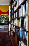 Interior. Fragment of a interior of town house with books arranged in library royalty free stock photography