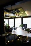 Interior of frame house. Cool interior of fachverk frame house royalty free stock photo