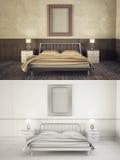 Interior frame mock-up - BEDROOM Stock Images
