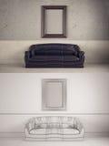 Interior Frame mock-up Stock Photos