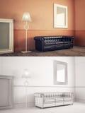 Interior Frame mock-up Royalty Free Stock Photo