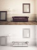 Interior Frame mock-up Stock Photography