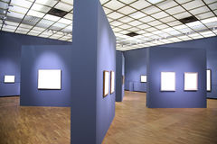 Interior with frames Royalty Free Stock Images