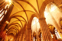 Interior of the Freiburg Muenster Royalty Free Stock Image