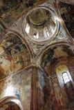 Interior and frescoes of church in Gelati, The Monastery of the Virgin. Kutaisi, Georgia royalty free stock photography