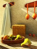 Interior with fruit Royalty Free Stock Image