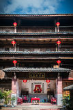 Interior of Fujian tulou Stock Photography