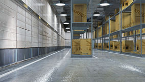 Interior of full warehouse Royalty Free Stock Photo