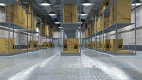 Interior of full warehouse Stock Photography