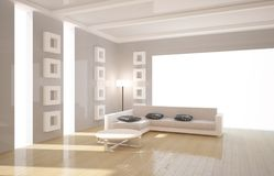 Interior with furniture Royalty Free Stock Image