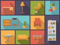 Interior and furniture icons vector illustration. Stock Photography