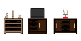Interior furniture. Illustration in vector Stock Photography