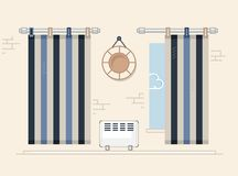 Interior and furniture series. windows vector illustration