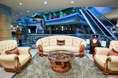 Interior Furniture shopping complex Grand. Furniture shopping mall GRAND -  largest specialty shop Stock Photos
