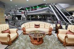 Interior Furniture shopping complex Grand. Furniture shopping mall GRAND -  largest specialty shop Stock Photo