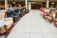 Interior Furniture shopping complex Grand. Furniture shopping mall GRAND -  largest specialty shop. MOSCOW, RUSSIA - MARCH 05 2015: Interior Furniture shopping Stock Photo