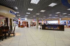 Interior Furniture shopping complex Grand. Furniture shopping mall GRAND -  largest specialty shop. MOSCOW, RUSSIA - MARCH 05 2015: Interior Furniture shopping Stock Photography