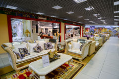 Interior Furniture shopping complex Grand. Furniture shopping mall GRAND -  largest specialty shop Royalty Free Stock Images