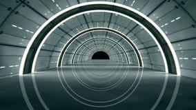 Interior futurista stock de ilustración