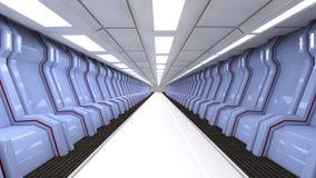 Interior futurista Imagens de Stock Royalty Free