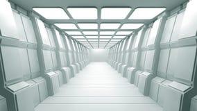 Interior futurista Fotos de Stock Royalty Free
