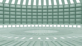 Interior futurista Imagem de Stock Royalty Free