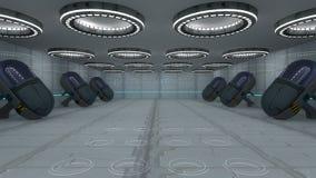 Interior futurista Imagenes de archivo