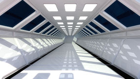 Interior futurista Fotos de archivo libres de regalías