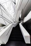 Interior futurista de uma da arquitetura em Guangzhou imagens de stock