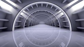 Interior futurista del fondo moderno de la arquitectura Foto de archivo libre de regalías