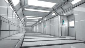 Interior futurista del pasillo Foto de archivo