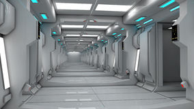 Interior futurista del SCIFI stock de ilustración