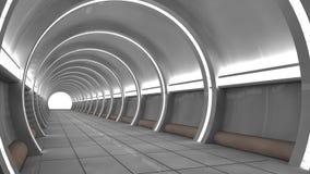 Interior futurista del SCIFI Foto de archivo