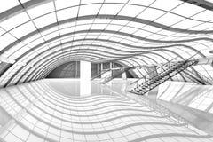 Interior futurista do aeroporto Imagens de Stock