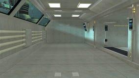 Interior futurista e beliches Fotografia de Stock
