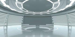 Interior futurista vazio Imagem de Stock