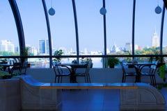 Interior of futuristic building Stock Images