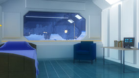 Interior futuristic design concept Royalty Free Stock Photos