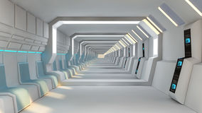 Interior futuristic design concept Stock Photo