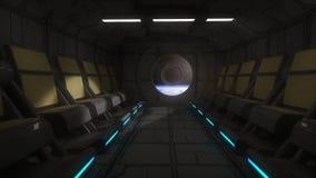 Interior futuristic design concept Stock Image