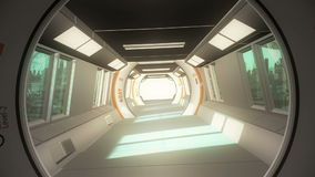 Interior futuristic design concept stock video